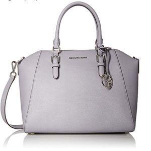 Michael Kors Ciara lilac large leather satchel